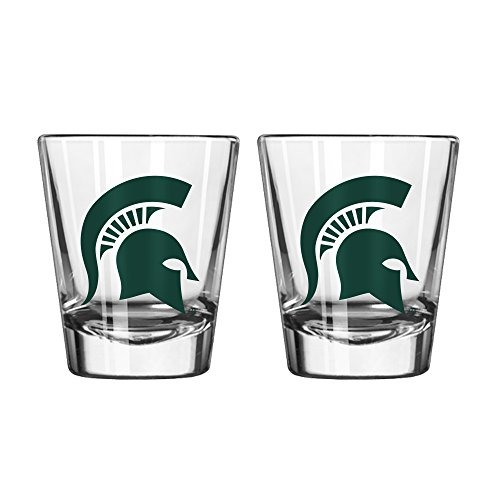 NCAA Michigan State Spartans Game Day Shot Glass, 2-ounce, 2-Pack