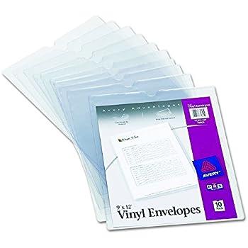 Amazon Com Avery 72611 Heavy Duty Plastic Sleeves