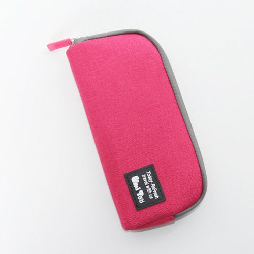 Multifunction Student's School Pen Bag Pencil Case Cosmetic Bags Travel Makeup Bags Pen Pocket Concise Style (Rose) by totomall (Image #1)