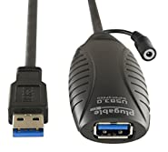 Plugable 10 Meter (32 Foot) USB 3.0 Active Extension Cable with AC Power Adapter and Back-Voltage Protection