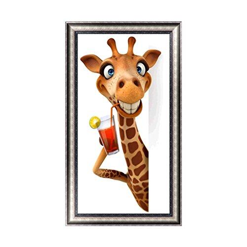 (Slowslient DIY Animal 5D Diamond Embroidery Rhinestone Painting Cross Stitch Decor Gift Home Dinning Room Bedroom decoration (Giraffe(30 x 53cm/11.81
