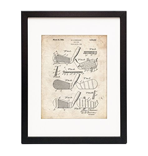 Golf Club Faces 1931 Framed Patent Print