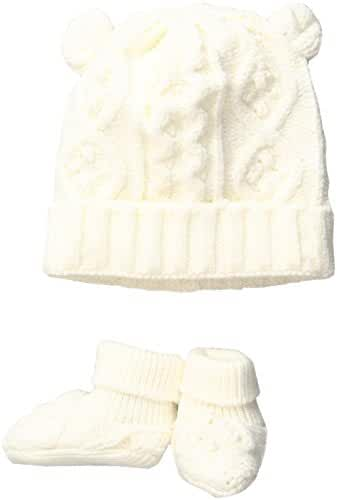Toby & Company Baby Nygb Cable Knit Hat and Booties Set