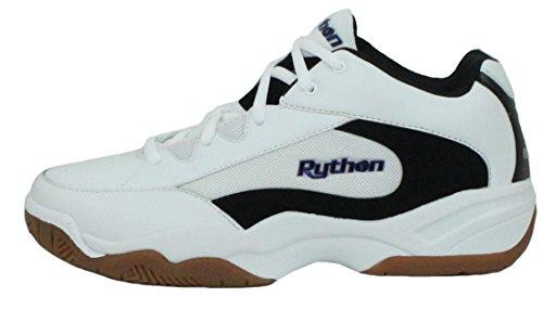 Python Wide (EE) Breite Indoor Weiß Mid Size Racquetball (Squash, Badminton, Volleyball) Schuh