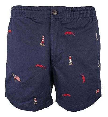Polo Shorts Chino (Ralph Lauren Mens Beach Casual Chino Shorts Blue 2XL)