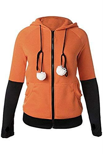 Fox Ears Hooded Sweatshirts Cute Animal Fox Cosplay Costume Coat -