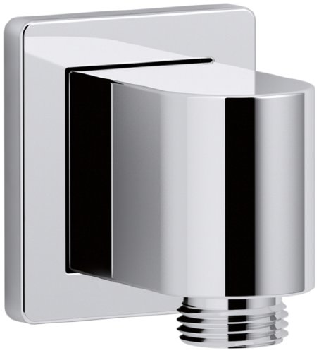 (KOHLER K-98351-CP Awaken Wall-Mount Supply Elbow with Check Valve, Polished Chrome)