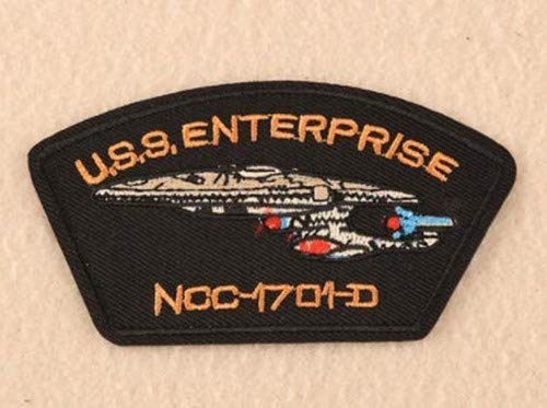 Star Trek TNG USS Enterprise NCC-1701-D Military Patch Fabric Embroidered Badges Patch Tactical Stickers with Hook & Loop]()