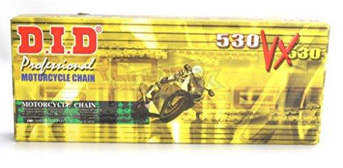 530 Pro-Street VX Series X-Ring Chain - 140 Links - Gold, Manufacturer: D.I.D, DID 530VX G&B 140ZB