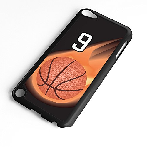 iPod Touch Case Fits 6th Generation or 5th Generation Basketball #3500 Choose Any Player Jersey Number 9 in Black Plastic Customizable by TYD Designs