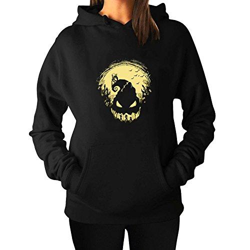 Womens Jack's Nightmare Hoodies Sweatshirt L Black (Captain America The Winter Soldier Online)