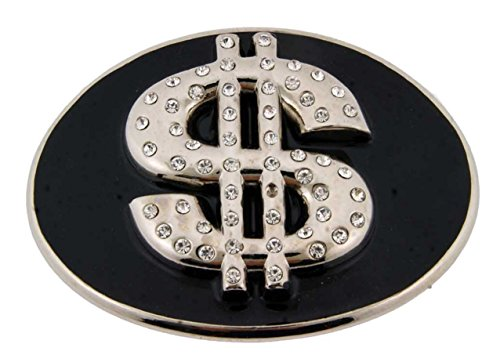Dollar Sign $ Superpower Reserve Currency Nickle Black Finishing Belt Buckle.