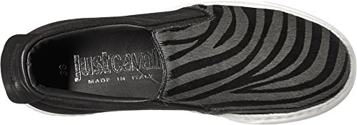 Just Cavalli Womens Zebra Slip-On Shoe Gargoyle sP9Rx34SK