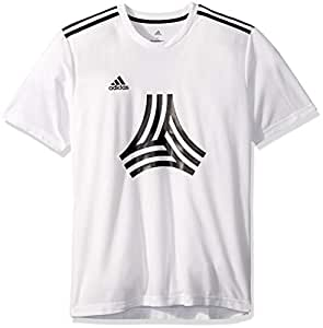 adidas Mens Short Sleeve CZ3993-P, Mens, Short Sleeve, CW7400, White, Small