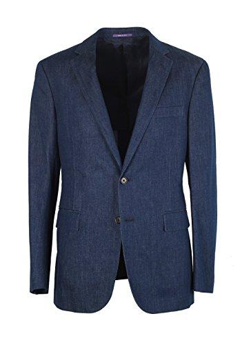 CL - Ralph Lauren Purple Label Sport Blue Denim Sport Coat Size 50 / 40R U.S. In Cotton