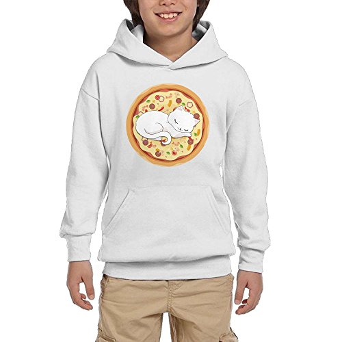 Wholesale Cat On Pizza Teen Boys Pullover Hoodie Fashion Pocket Sweatshirts