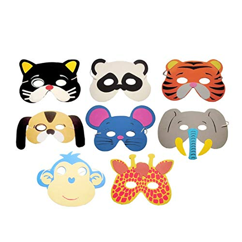 Mask Halloween - Cute 12pcs Animal Head Mask Costume Children Zoo Party Mascaras De Paintball - Adults Mask Halloween Kids Head Mouth Moving Shark Plush Masks Animal -