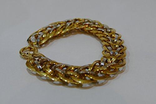 bracelet maille bicolore or 18 carat