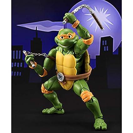 HTQING Figura de acción Michelangelo Tortugas Ninja Película ...