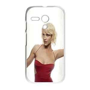 Motorola G Cell Phone Case White Tricia Helfer SLI_589530