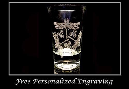 Dragonfly Shot Glass - Free Personalized Engraving Lyoncraft