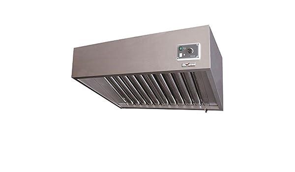 Campana extractora profesional de acero inoxidable con motor integrado y regulador: Amazon.es: Grandes electrodomésticos