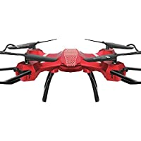 Wide Angle Lens HD 3MP Camera Quadcopter RC Drone WiFi FPV Live Hover Helicopter (Red, Set high version)