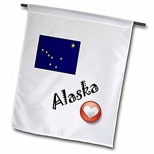 3dRose fl _ 7141_ 1I Love Alaska bandera de Jardín, 12por 45,72cm