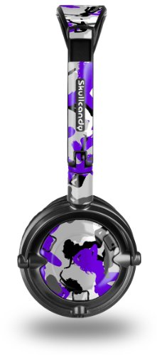 Sexy Girl Silhouette Camo Purple Decal Style Skin fits Skullcandy Lowrider Headphones (HEADPHONES SOLD SEPARATELY)
