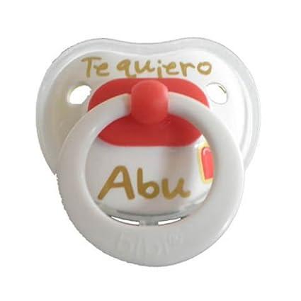 Bibi - Chupete Te Quiero Abu Látex Bibi 0-12m: Amazon.es: Bebé