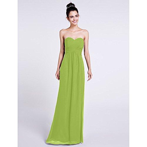 V lacci collo abito e Verde lunghezza kekafu di formale Prom prodotti di sera linea Tulle pianale SG con da Una con Lime a da w4xqqHFf0W