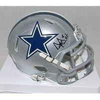 $233 » Signed Dak Prescott Mini Helmet - Silver Speed - JSA Certified - Autographed NFL Mini Helmets