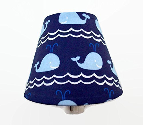 Blue Whales Navy Nautical Night Light