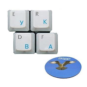 HQRP Pegatina Azul claro Rusa Transparente para Teclado con Capa Protectora para Ordenador portátil / Notebook más Posavasos: Amazon.es: Electrónica