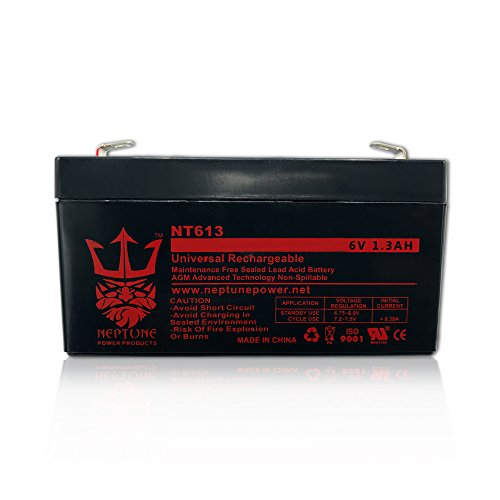 (Neptune 6V 1.2Ah / 1.3Ah / 1.4Ah NT-613 Rechargeable SLA Sealed Lead Acid Battery)