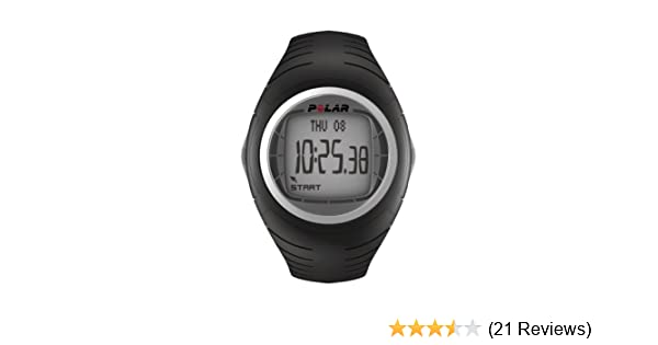 Amazon.com : Polar F4 Mens Heart Rate Monitor Watch (Black Thunder ...