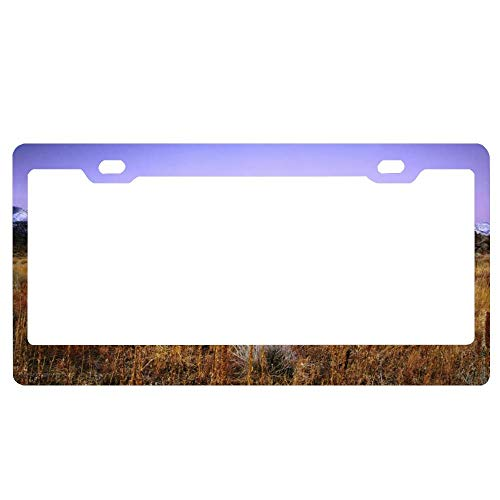 Mountain Plains in Bishop California Black License Plate Frame, Aluminum Metal License Plate Holder, Funny Humor Auto Car Tag Frame, 2 Holes and Screws for US Standard