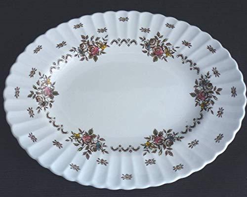 "J & G Meakin England English Staffordshire Chatsworth 12"" Oval Serving Platter"