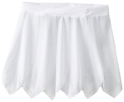 Danskin Big Girls' Glitter Petal Pink Skirt, White, Medium/Large by Danskin