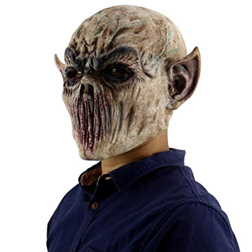 Halloween Latex Mask Old Man Latex Mask for Masquerade Halloween Costume Party Bar Realistic Lightweight Scary -