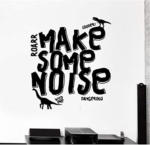 - YANGSHUANG Wall Sticker Vinyl Sticker Wall Decal Dinosaur Reptile Monster Word Inscription Phrase Fashion Home Living Room Kids Room Decoration 57x65cm