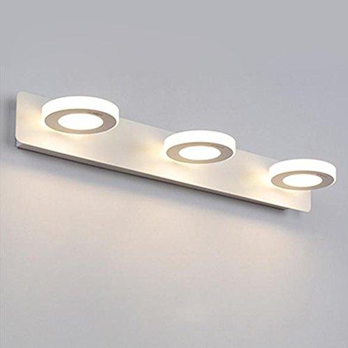 badezimmerlampe LED-Spiegel-Frontleuchte, Badezimmer-Licht Einfaches modernes Badezimmer-Licht Augenschutz-Deckenleuchte Wasserdichte Nebel-Lampe Schminklicht (Größe   15W 48CM)