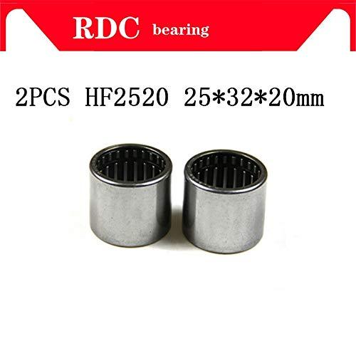 Fevas 2pcs HF2520 25x32x20mm HF253220 One-Way cluth Needle Roller Bearing Needle Bearing