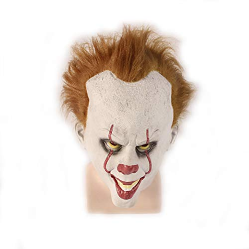 Halloween Clown mask Halloween Costume for Adult-Stephen King's it mask Scary Latex mask Scary -