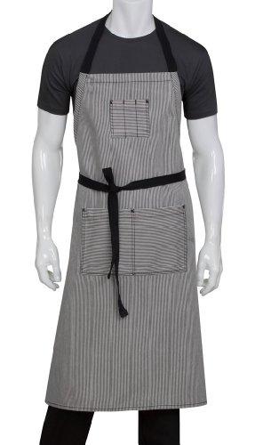 Chef Works Unisex Portland Chefs Bib Apron, Black, One Size -