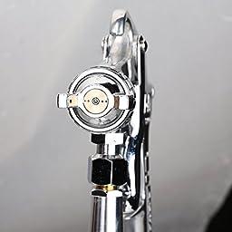 Valianto W71-S HVLP Siphon Feed Paint Spray Gun Silver Nozzle Size 1.8mm