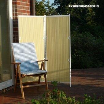 Videx Paravent Rugen 2 Teilig Pastellgelb Amazon De Garten
