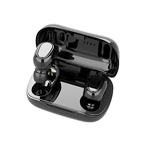 True Bluetooth Earbuds,HiFi Wireless Bluetooth 5.0 Headset Sport Twins Headset 3D Stereo Portable Charging Box (White)