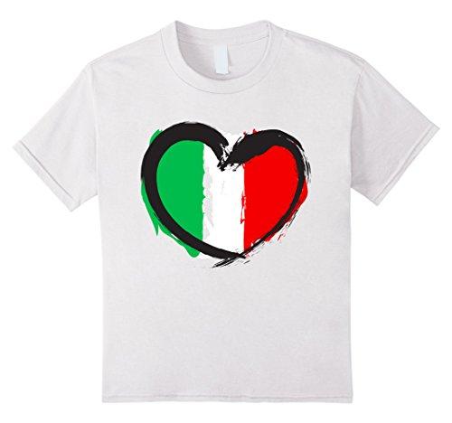 Kids Italy Heart T-shirt (Italian tee shirts) 4 White - Italy Heart