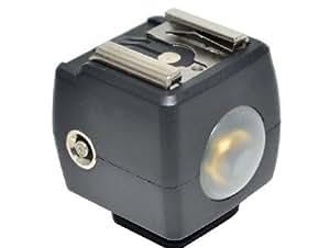 Maxsima - disparador de flash esclavo óptico para todos los flashes Nikon, Pentax, Olympus, Panasonic, etc, Norma ISO zapata (NO PARA Canon o Sony)...